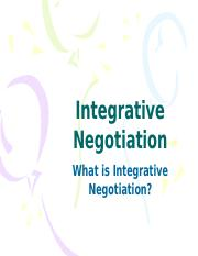 ADR 6 - Integrative Negotiation.pptx