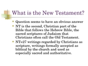 New Testament Backgrounds