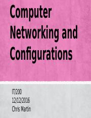 Computer Networking and Configurations
