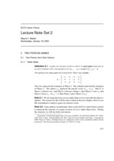Lecture Note Set 2