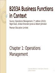 B203A chap 1 Operations Management.ppt
