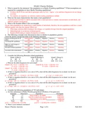 Exam 2 Practice Answers Fall 2015