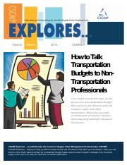 How to Talk Transportation Budgets to Non-transportation Professionals - copia