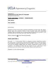 ling lesson essay w linguistics introduction to the  5 pages linguistic essay 3