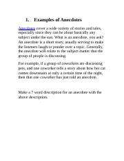 Examples of Anecdotes.docx