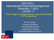 FX Market and Exchange rates (student)