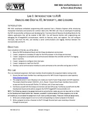 RBE3001_2012A_Lab1_Intro2AVR_v1