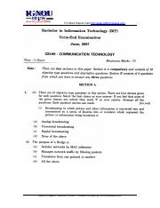 (www.entrance-exam.net)-IGNOU Bachelors in Information Technology Communication Technology Sample Pa