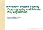 Lecture-9 Cryptography and Private Key Algorithms