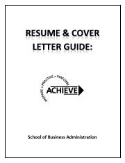 Resume Guide for ACHIEVE