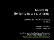 21 Clustering - Similarity-based Clustering