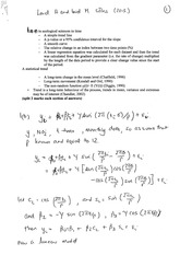 Answers to In-course Exam Questions 2013 (Solutions 2013)