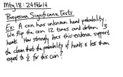 Lecture 18 on Significance Tests
