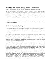 How to Begin a Literary Analysis Essay