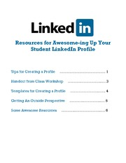 LinkedIn Resource Packet