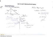 sine and cosine law word problems