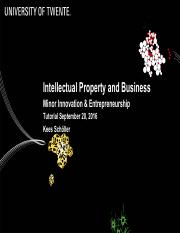 2016-09-20 IM HC2 - Patents and Business by Kees Scholler.pdf