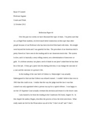 Trials Reflection Paper