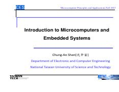 Lec1 - Intro Microcomputers and Embedded Systems