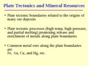 Lecture 14 - Mineral Resources part 2