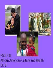 African American Culture and Health 2015.ppt