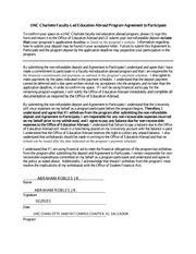 Faculty Led Agreement to Participate Sep12