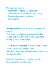 Notes for World History 1