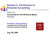 Lecture 2 Intro to financial accounting