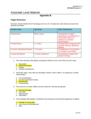 psy211 worksheet Download psy 211 week 1 individual assignment introduction to psychology worksheet psy 211 week 2 individual assignment learning experience paper psy 211 psy211.
