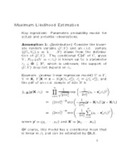 Lec5 - Maximum Likelihood Estimation