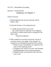Chpt 3 Summary Notes Updated with IFRS