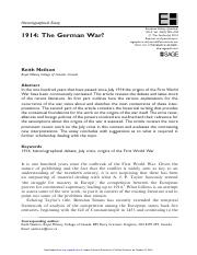 MT Week 3_The German War