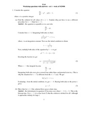 GSW Problem Set 1 Answers
