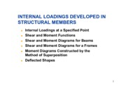internal loadings dev in structural members
