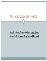 Arundel Partners Sequal Rights