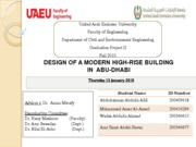 Design of  a modern high rise building in Abudhabi