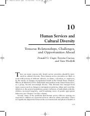 Human Services and Cultural Diversity