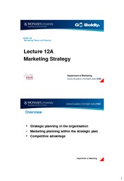 lecture12A marketing strategy