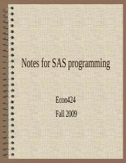Notes-for-SAS-programming-fall2009.ppt