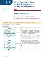 6.5 Using Transformations to Sketch the Graphs of Sinusoidal Functions - student.pdf