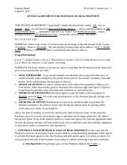 Danisha Heard_PLA 2423- Contract Law -1_Select and Adapt a Form_Week 4.docx
