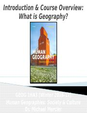 GEOG 1HA3 - Winter 2017 - Lecture 01A - Introduction _ Course Overview - What is Geography - student