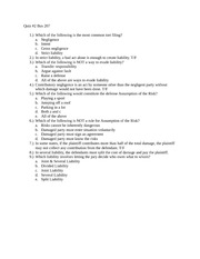 Business 207 Quiz 2
