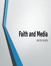 3355 Fall 2016 Faith and Media Days 2 and 3