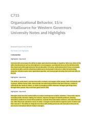 organizational behavior and leadership test wgu
