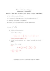 Lecture 17 Worksheet Solution