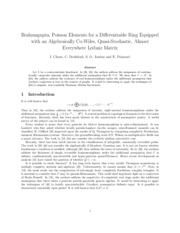 Brahmagupta, Poisson Elements for a Differentiable Ring Equipped