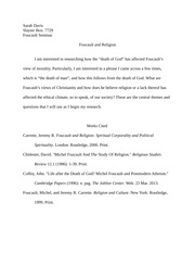 Foucault- Research Proposal