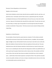 Discussion 3 Human Dependence on the Environment.docx
