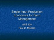 Production Economics 1